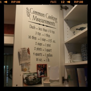 common cooking measurements