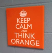keep calm and think orange