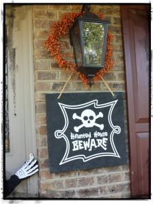 Halloween - beware in frame