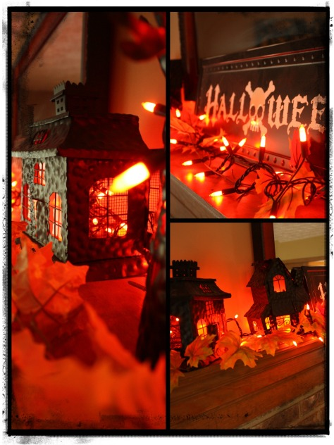 Halloween - mantel collage