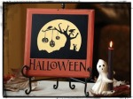 halloween - on orange board in frame